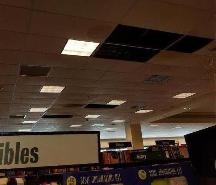 Coral Springs Bookstore Ceiling Damaged